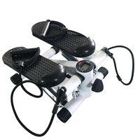 Stepper, Mini Bike, Hydraulischer Stepper, Hometrainer, Pedaltrainer für Muskelaufbau, Schwarz-OV