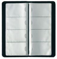 Herlitz Visitenkarten-Mappe Kunstledereinband für 128 Visitenkarten schwarz