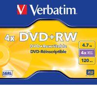 Verbatim Dvd+rw 4.7GB DVD+RW, 4,7 GB, 120 min