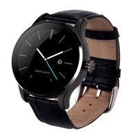 Smart k88h Bluetooth Pulsuhr kompatibel mit Android IOS Sport 44,5 x 44,5 x 12,2 mm Schwarz + Lederband