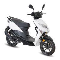 Motorroller GMX 460 Sport B 25 km/h Weiß Euro 4 Mofa Roller Scooter