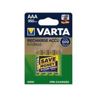 Varta Recharge Accu Endless AAA 950mAh 4er