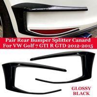 GILME Hinten Stoßstange Splitter Spoiler für VW Golf 7 GTI R GTD 2012-2015 Schwarz