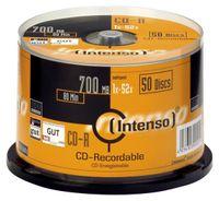 Intenso CD-R 700MB, CD-R, 700 MB, 50 Stück(e), 120 mm, 80 min, 52x
