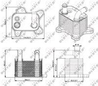 NRF Ölkühler Motoröl für OPEL CORSA D für VAUXHALL CORSA Mk II C W5L F08