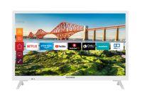 Telefunken XH24J501V-W 24 Zoll Fernseher (Smart TV inkl. Prime Video / Netflix / YouTube, HD ready, 12 Volt, Works with Alexa, Triple-Tuner)