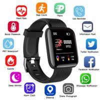 Smart Watch Herren Damen Smartband Blutdruckmessung Wasserdicht Fitness Tracker Armband Pulsmesser Smartwatch Schwarz