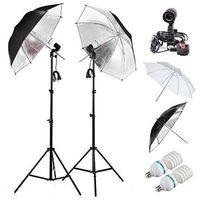 9tlg. Fotostudio Set Studio Reflexschirm Beleuchtung Schirm Stativ Studioschirm