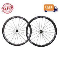 ICAN Carbon Laufradsatz 38mm 700C Laufräder Rennrad Drahtreifen Felge Shimano 10/11 Speed 1505g (Classic Laufradsatz)