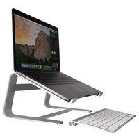 Macally ASTAND, Notebook Ständer aus Aluminium kompatibel zu MacBooks und anderen Laptops von 10 bis 17 Zoll, edles und elegantes Alu Design