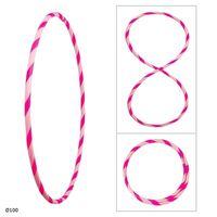 Bunter Hula Hoop Reifen, faltbar, Ø100cm Rosa-Pink
