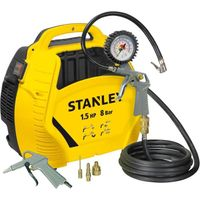 Stanley Air Kit tragbarer Druckluft Kompressor Set OL195-8-0 1,5HP +Reifenfüller +P