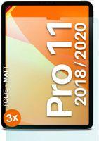 "moex® 3x Schutzfolie kompatibel mit iPad Pro 11"" (1. & 2. Gen.) - Displayschutzfolie Anti Reflex Folie, Matt"