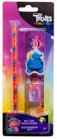 Trolls schreibgeräteset Mädchen 15 cm rosa/blau 4-teilig