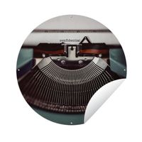 Gartenposter Rund - Schreibmaschine - Retro - Briefe - Ø 120 cm