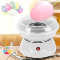 Zuckerwattemaschine | Automat Zuckerwattegerät 500W  - mit 10 * Süßigkeiten Floss Sticks + 1 * Zuckerlöffel  Weiß