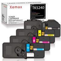 Xemax Kompatibel für Kyocera TK-5240 TK5240 TK-5240K TK-5240C TK-5240M TK-5240Y Toner für Kyocera Ecosys M5526cdw, Kyocera Ecosys M5526cdn, Kyocera Ecosys P5026cdw, Kyocera Ecosys P5026cdn, 4er Set