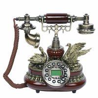 Vintage Telefon Desktop Retro Vintage Telefon Schnurgebundenes Telefon Festnetz Nostalgie Festnetz Desktop-Telefon für Zuhause/Hotel