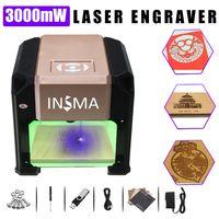 3000mW Laser Graviermaschine USB Laserengraver Engraving 80x80mm Fräsmaschine