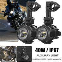 40W LED Hilfsspot Nebelscheinwerfer Sicherheits-Fahrleuchte für BMW R1200GS F800GS KTM