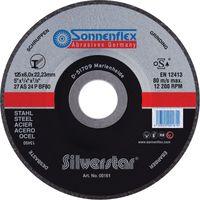 SONNENFLEX Silverstar Stahl Schruppscheibe Schleifscheibe VPE 10 Stück Größe:Ø 125 x 6.0 x 22.23 mm