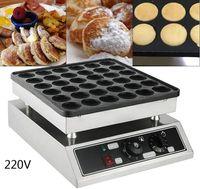 Commercial Elektrische Waffel Maker 36 Löcher Mini Dutch Pancake Baker 4.8cm Antihaft Pfannkuchen Maker1000W 220V