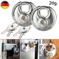 2er Vorhängeschloss Gleichschließend schloss Edelstahl Schloss 69mm Silber