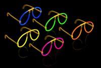 10 leuchtende Knicklichter Brillen - Leuchtbrillen Set