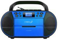 Cyberlux CD-Player mit Kassettendeck | USB | FM Radio mit 20 Speicherplätze | Blau