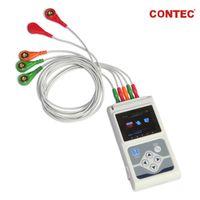 CONTEC TLC9803 Dynamischer 3-Kanal 24-Stunden-EKG-Holter-Monitor PC-Software-Analysator OLED-Recorder