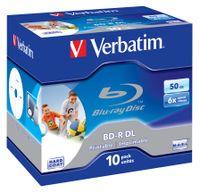 VERBATIM Blu-Ray BD-R DL 50GB 6x Wide bedruckbar 10er Case