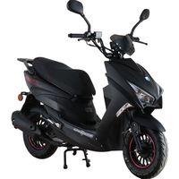 ALPHA MOTORS Mofaroller »Speedstar FI« 50 ccm 25 km/h EURO 5 mattschwarz