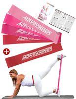 ActiveVikings Loops 5er Set Valkyrie Edition - Ideal für Muskelaufbau Physiotherapie Pilates Yoga Gymnastik und Crossfit - Fitnessband Gymnastikband Widerstandsbänder Fitnessbänder