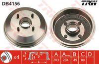 Trw Bremstrommel Hinterachse DB4156