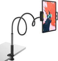 Schwanenhals Tablet Halterung, Tablet Halter - Flexible Arm Lazy Bett Tablethalterung für für Ipad/Handy/Switch/Samsung Galaxy Tabs/Kindle Fire HD usw, 75-80cm Gesamtlänge