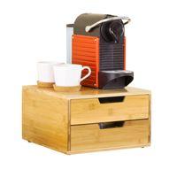 SoBuy Kaffeekapsel Box,Kapselspender, Aufbewahrungsbox, Schubladenbox ,Schreibtischorganizer,FRG82-N