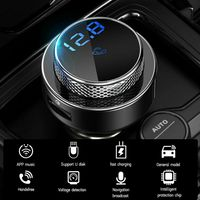 Melario FM Transmitter Bluetooth 5.0 KFZ Auto Radio MP3 Player USB Ladegerät Adapter
