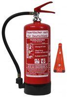 NEU6 L Schaum Feuerlöscher  GS DIN EN3  +Halter+Manometer+Stand