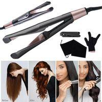 2-in-1 Profi Elektrisch Haar Straightener Lockenstäbe Glätteisen Haarglätter Curl&Straight Twist Haarglätter und Lockenstab Glätten