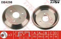 Trw Bremstrommel Hinterachse DB4298