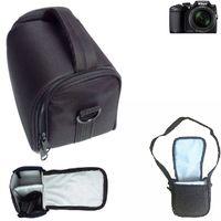 K-S-Trade Kameratasche für Nikon Coolpix B500 Schultertasche Tragetasche Schutzhülle Fototasche bag Zubehörtasche Regenschutz schwarz | 13cm x