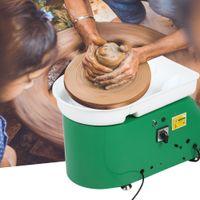 350W Töpferscheibe 24cm Töpferei DIY Elektrische Machine Fußschalter für Keramik mit Fußpedal