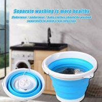 2 in1 Faltbare Mini-Waschmaschine Automatische Wäsche waschen Mini-Wascheimer