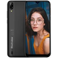 Blackview A60 Smartphone ohne Vertrag - 6,1 Zoll Wassertropfen Bildschirm 4080mAh Akku, 13MP+5MP Dual Kamera 16GB ROM, 128 GB erweiterbar Dual SIM Android 8.1 (Go Edition) Handy -Schwarz