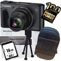 1A Photo PORST Jubiläumsangebot Canon Powershot SX730 HS schwarz Digitalkamera+SD Speicherkarte+Tasche+Display-Schutzfolie+Mini Stativ+Mikrofasertuch