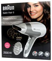 Braun HD 585 Satin Hair 5 PowerPerfection Haartrockner mit Diffusor