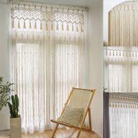 Hikeren 80*210cm Makramee Wandbehang Handgemachte Vorhänge Tapisserie Wandteppich,Es wird empfohlen, den Geruch des Produkts abzugeben