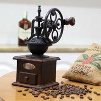 Vintage Handkurbel Kaffeemühle manuelle Kaffeebohnen Mühle Küche Zubehör für Home Cafe