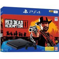 PS4 Slim 1To Noire/Jet Black + Red Dead Redemption 2
