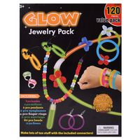 TE-Trend 120-teilig Knicklichter Glow in the Dark Stimmungslicht Schmuckset Armband Ring Kette Partyset Gestalten Basteln bunte Leuchtfarben